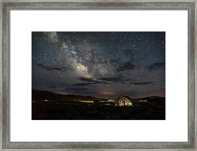 Leaving The Light On Framed Print by Cat Connor