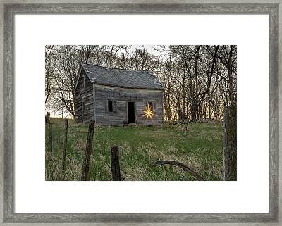 Leaving The Light On Framed Print by Penny Meyers