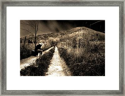 Framed Print featuring the photograph Leaving This Town by Gray  Artus