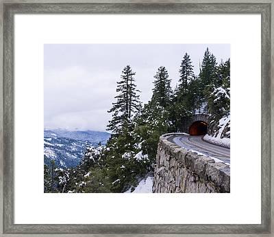 Leaving Yosemite Framed Print