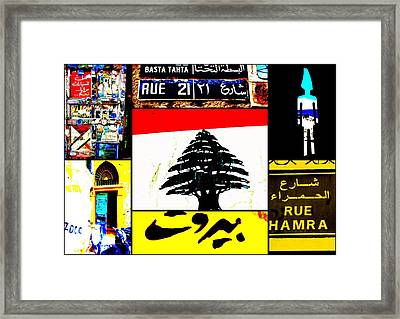 Lebanon Famous Icons Framed Print by Funkpix Photo Hunter