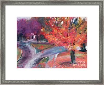 Lebanon New Hampshire Downtown Fall Foliage Framed Print by Edward Fielding