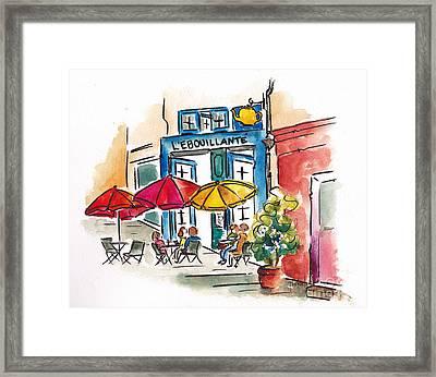 Lebouillante Paris Cafe Framed Print