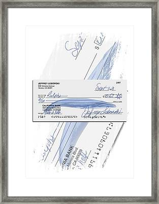 Lebowski's Check Framed Print by Filippo B