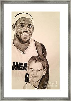 Lebron And Carter Framed Print by Tamir Barkan
