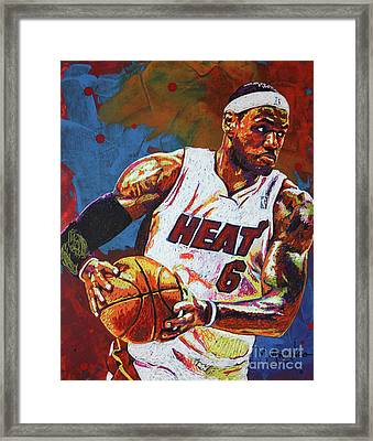 Lebron James 3 Framed Print
