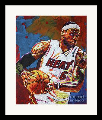 Lebron James Paintings Framed Prints