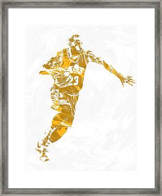 Lebron James Cleveland Cavaliers Pixel Art 14 Framed Print
