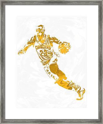 Lebron James Cleveland Cavaliers Pixel Art 15 Framed Print