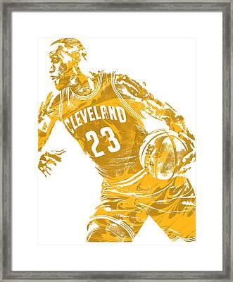 Lebron James Cleveland Cavaliers Pixel Art 20 Framed Print