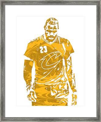 Lebron James Cleveland Cavaliers Pixel Art 21 Framed Print