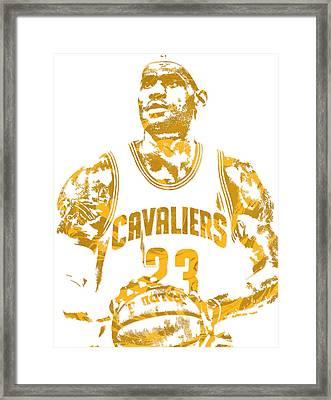 Lebron James Cleveland Cavaliers Pixel Art 8 Framed Print