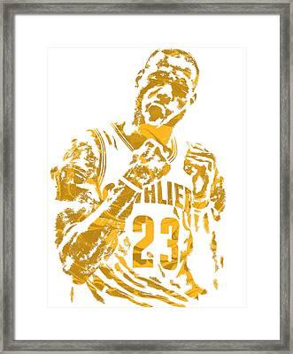 Lebron James Cleveland Cavaliers Pixel Art 9 Framed Print