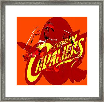 Lebron James In Cleveland Framed Print by Brian Reaves