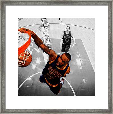Lebron James In Flight 23 Framed Print