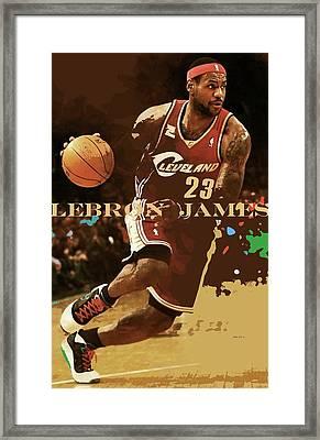 Lebron James, King James, Cleveland Cavaliers Framed Print