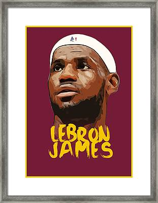 Lebron James King Framed Print by Semih Yurdabak