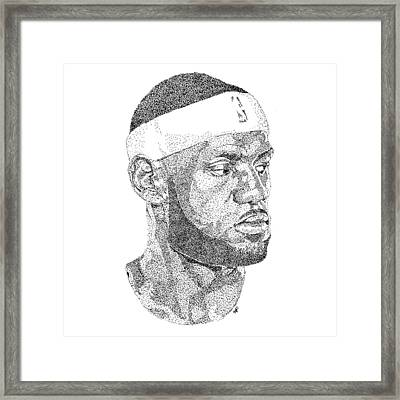 Lebron James Framed Print by Marcus Price