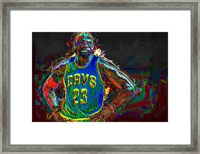 Lebron James Painted Framed Print by David Haskett