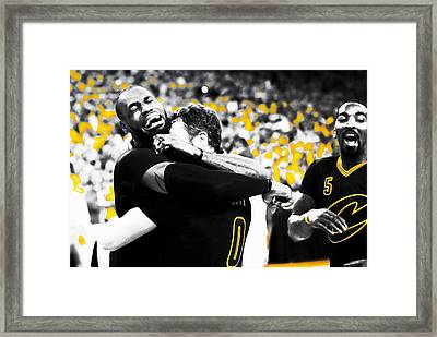 Lebron James Putting In Work Framed Print
