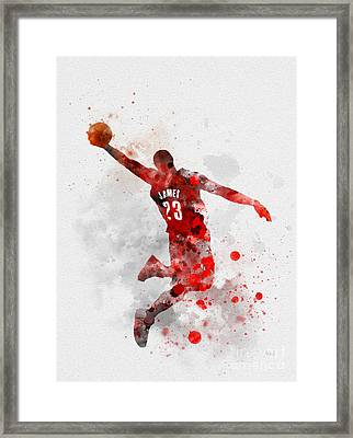 Lebron James Framed Print by Rebecca Jenkins