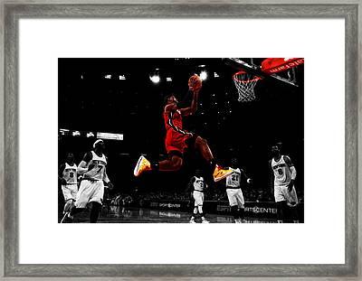 Lebron James Showtime  Framed Print