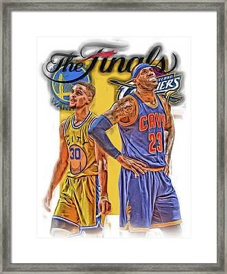 Lebron James Stephen Curry The Finals Framed Print by Joe Hamilton
