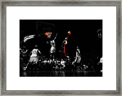 Lebron James Witness Framed Print