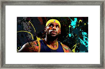 Lebron Framed Print by Richard Day