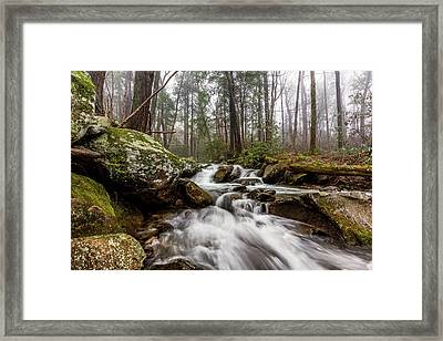 Leconte Creek Framed Print by Everet Regal