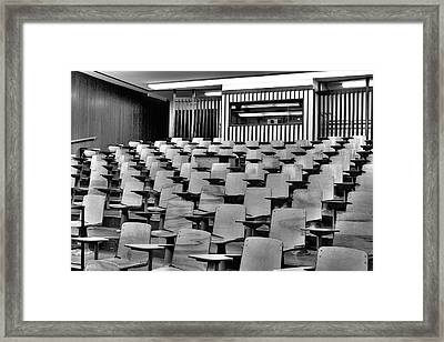 Lecture Hall At Ubc Framed Print