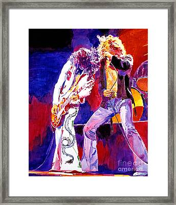 Led Zeppelin - Page And  Plant Framed Print