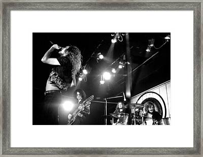Led Zeppelin 1972 Framed Print by Chris Walter