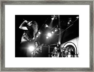 Led Zeppelin 1972 Framed Print by Chris Walter