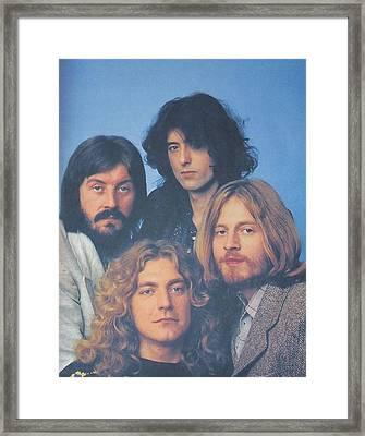 Led Zeppelin Framed Print by Donna Wilson