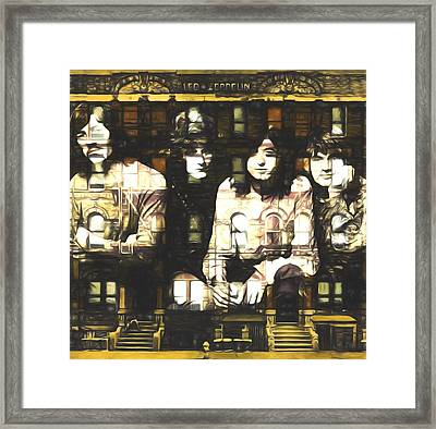 Led Zeppelin Physical Graffiti Framed Print by Dan Sproul