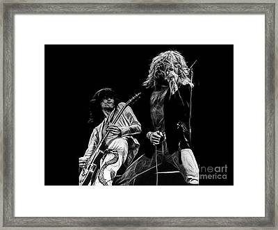 Led Zeppelin Robert Plant Jimmy Page Collection Framed Print