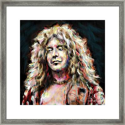 Led Zeppelin Robert Plant Framed Print by Ryan Rock Artist