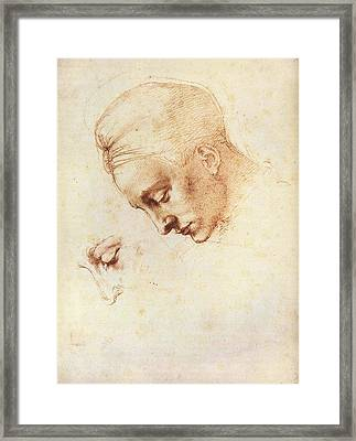 Leda's Head, Study Framed Print