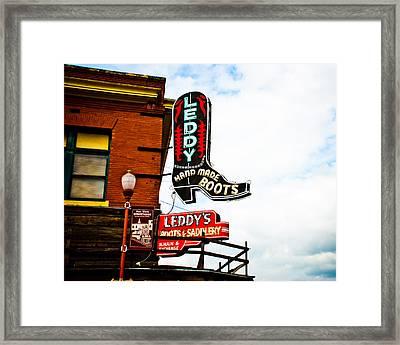 Leddy's Boots Framed Print by David Waldo