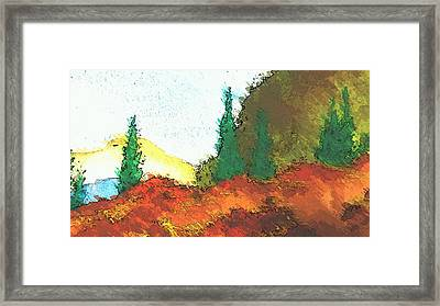 Ledge In The Forest Framed Print