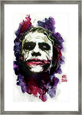 Ledgerjoker Framed Print by Ken Meyer jr