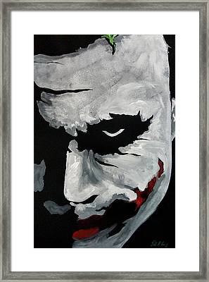 Ledger's Joker Framed Print