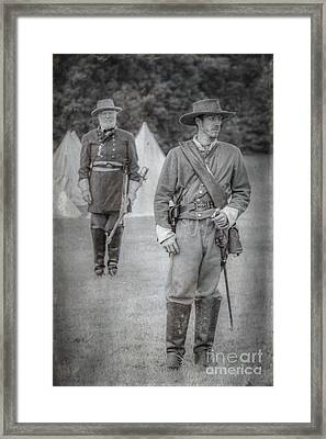 Lee And Officer  Framed Print by Randy Steele