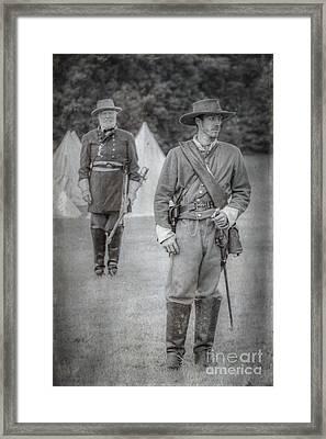 Lee And Officer  Framed Print