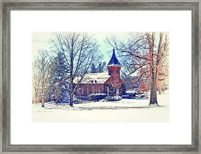 Lee Chapel February 2012 Series Iv Framed Print by Kathy Jennings