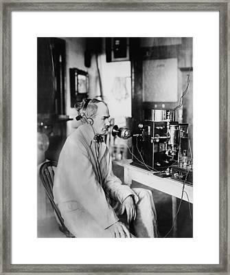 Lee Deforest, 1873-1961, Ran An Framed Print