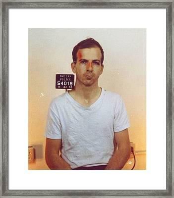 Lee Harvey Oswald Mug Shot Nov 22 1963 Vertical Color  Framed Print by Tony Rubino