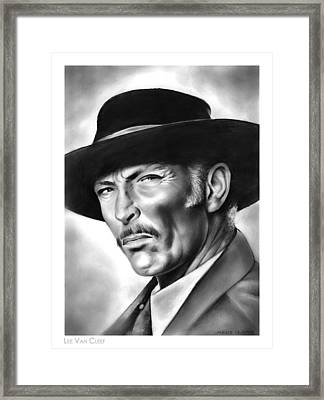 Lee Van Cleef Framed Print by Greg Joens