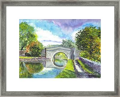 Leeds Canal Liverpool Framed Print by Carol Wisniewski